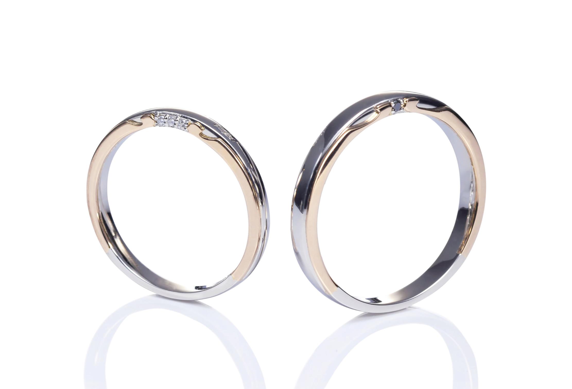 バイカラー結婚指輪